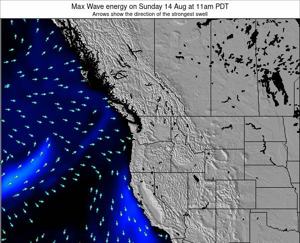Washington Max Wave energy on Thursday 24 Apr at 11am PDT
