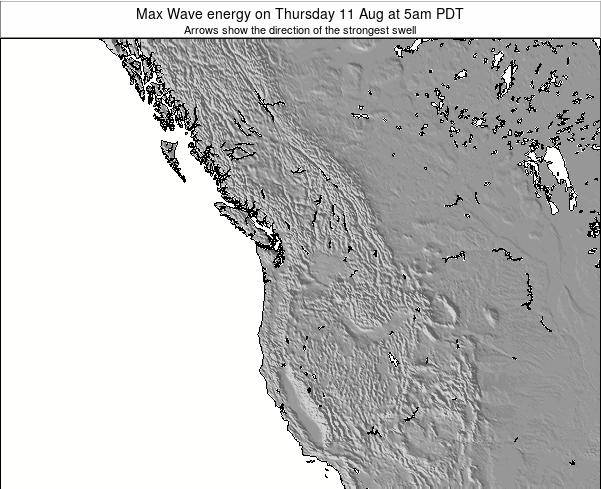 Washington Max Wave energy on Friday 14 Mar at 4am PST