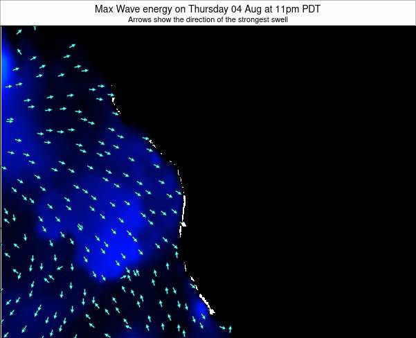 Washington Max Wave energy on Saturday 11 Jul at 5pm PDT