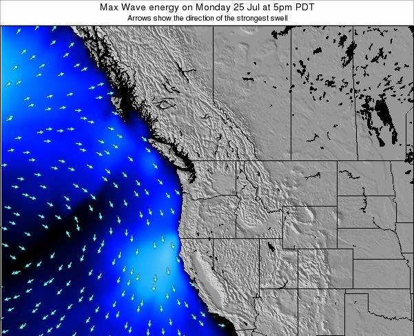 Washington Max Wave energy on Sunday 26 May at 11am PDT