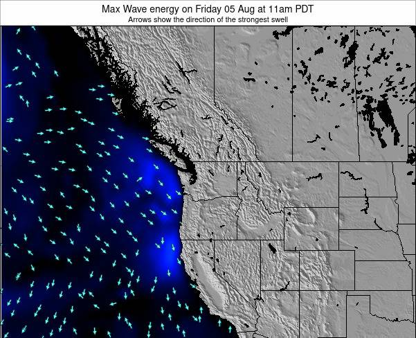 Washington Max Wave energy on Wednesday 06 Aug at 11am PDT