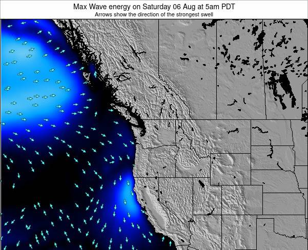 Washington Max Wave energy on Tuesday 28 May at 5am PDT
