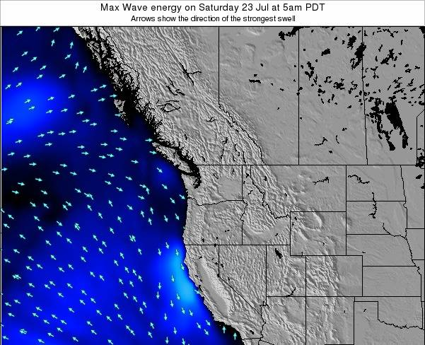 Washington Max Wave energy on Sunday 26 May at 5pm PDT
