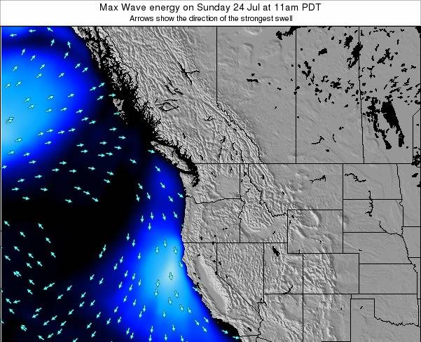 Washington Max Wave energy on Saturday 25 May at 11am PDT