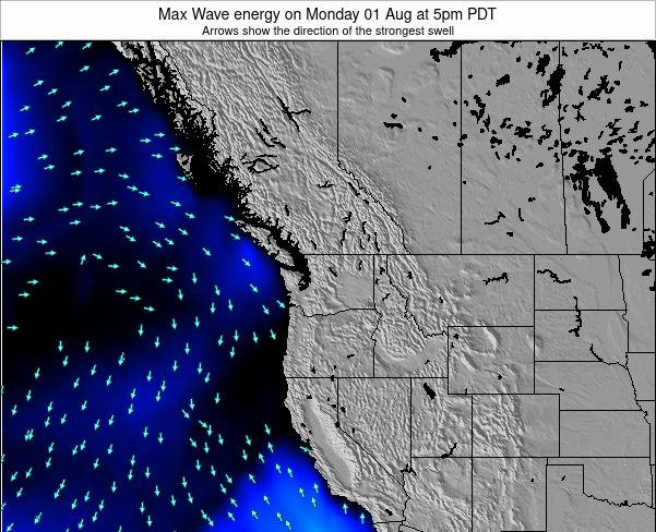 Washington Max Wave energy on Thursday 23 May at 5am PDT