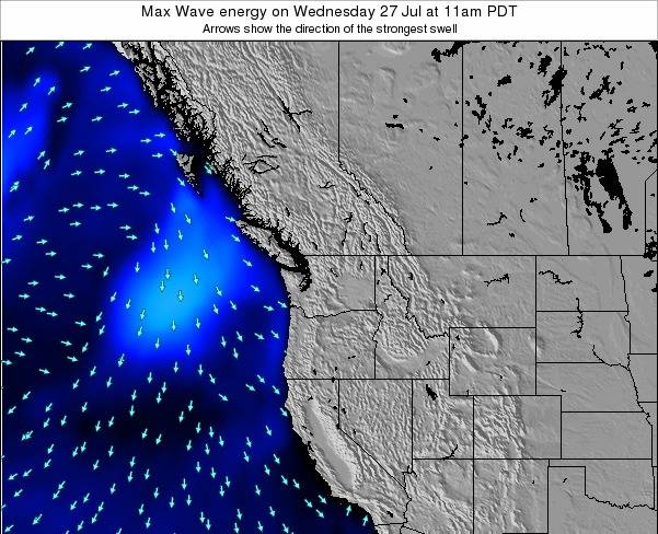 Washington Max Wave energy on Thursday 25 Sep at 11am PDT