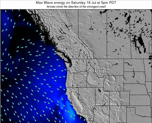 Washington Max Wave energy on Tuesday 21 May at 11am PDT