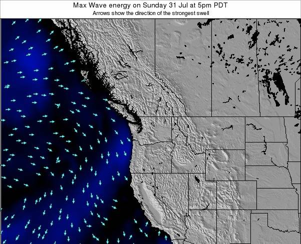Washington Max Wave energy on Wednesday 24 Jan at 4pm PST map