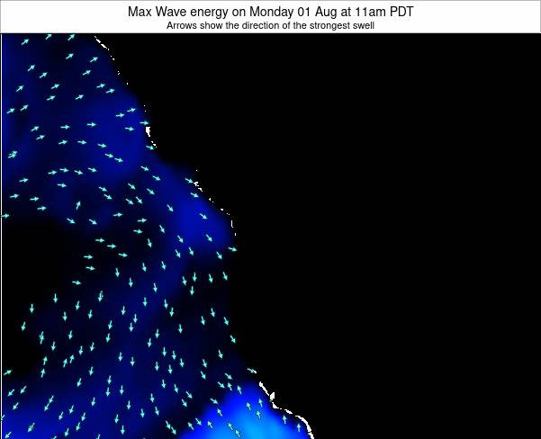 Washington Max Wave energy on Friday 25 Jul at 11pm PDT