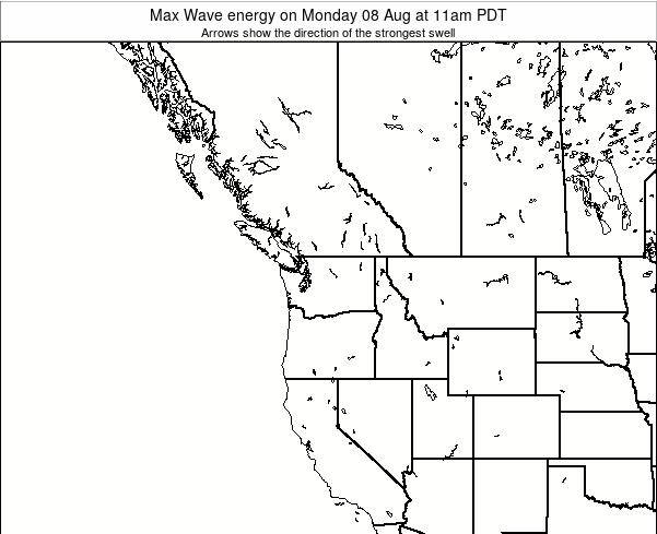Washington Max Wave energy on Monday 09 Dec at 10pm PST