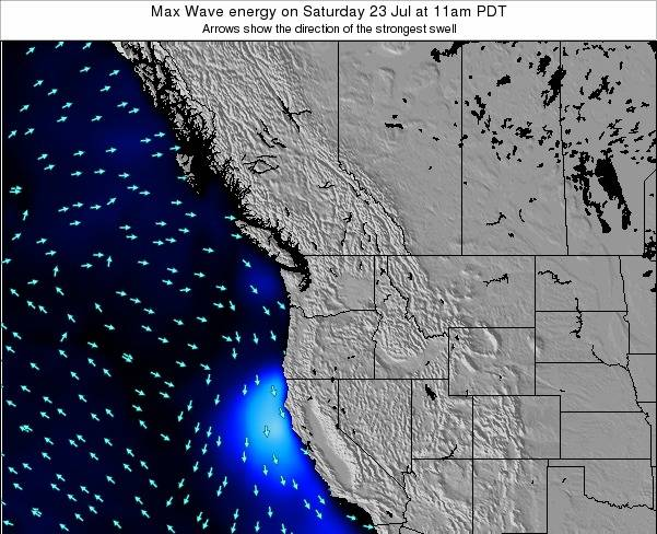 Washington Max Wave energy on Saturday 18 May at 5pm PDT