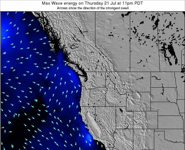 Washington Max Wave energy on Monday 27 May at 11pm PDT