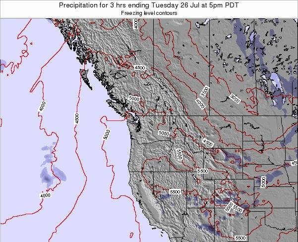 Washington Precipitation for 3 hrs ending Sunday 23 Jun at 11pm PDT