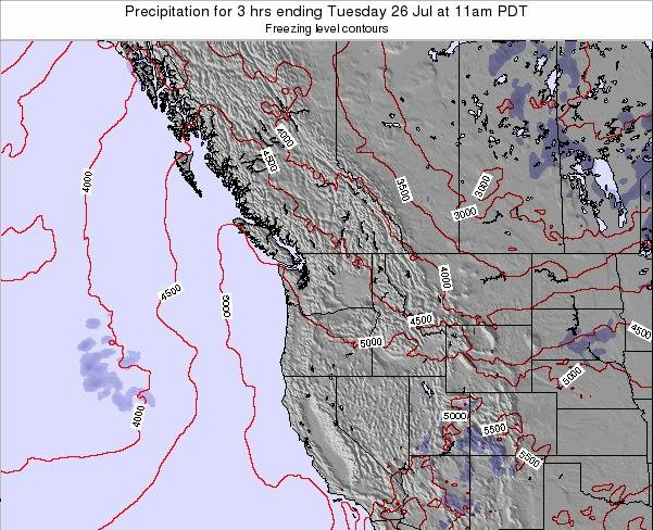 Washington Precipitation for 3 hrs ending Saturday 06 Sep at 5am PDT