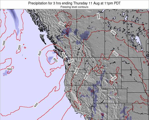 Washington Precipitation for 3 hrs ending Thursday 03 Dec at 10am PST
