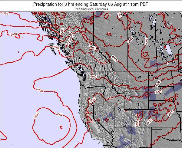 Washington Precipitation for 3 hrs ending Thursday 02 Apr at 11pm PDT