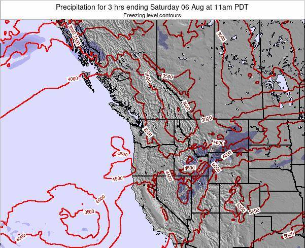 Washington Precipitation for 3 hrs ending Friday 04 Sep at 5pm PDT