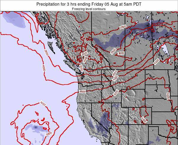 Washington Precipitation for 3 hrs ending Monday 20 Oct at 5pm PDT