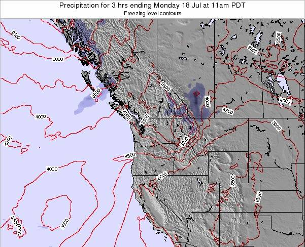 Washington Precipitation for 3 hrs ending Friday 27 Nov at 4am PST