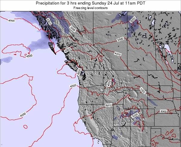 Washington Precipitation for 3 hrs ending Tuesday 22 Jul at 11am PDT