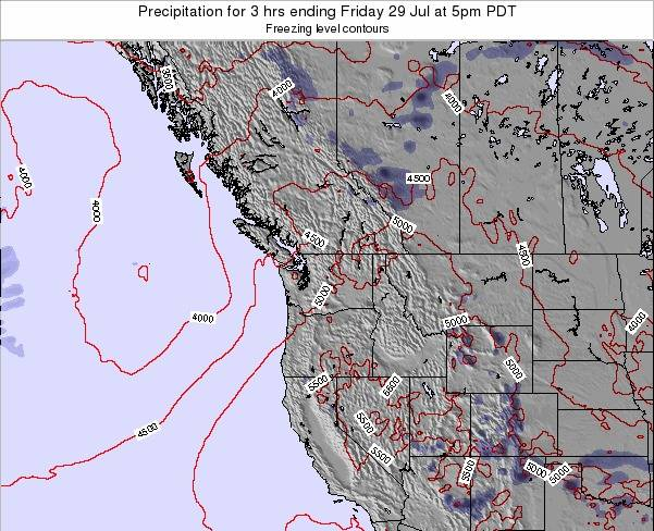 Washington Precipitation for 3 hrs ending Sunday 28 Sep at 5am PDT