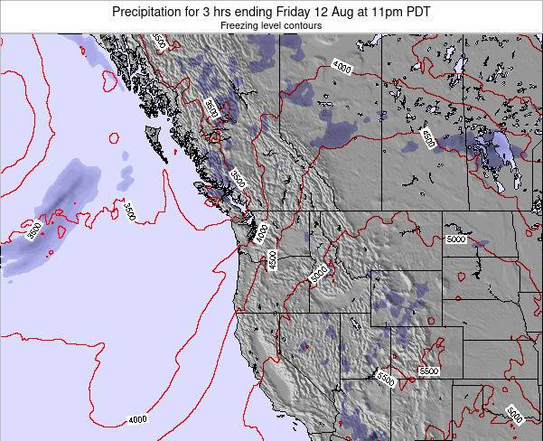 Washington Precipitation for 3 hrs ending Monday 21 Apr at 11am PDT