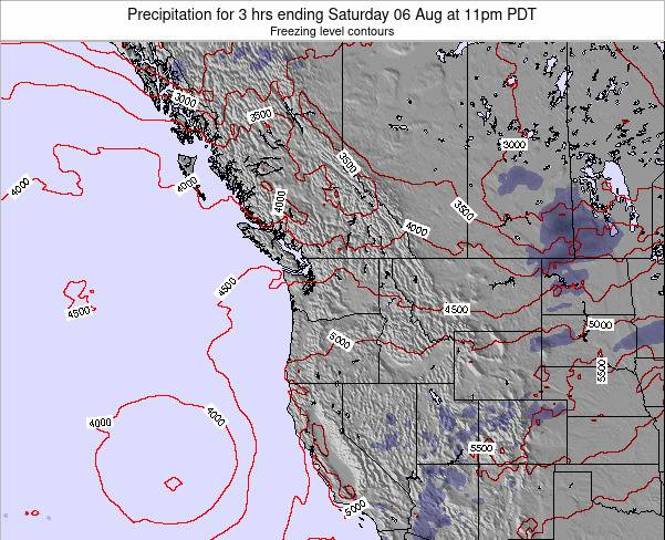 Washington Precipitation for 3 hrs ending Sunday 27 Apr at 11pm PDT