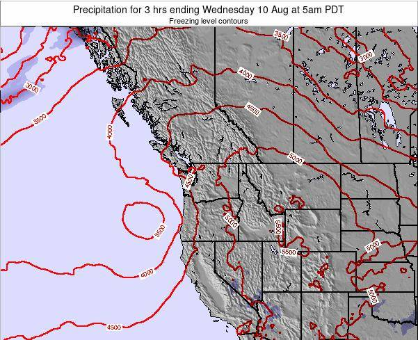 Washington Precipitation for 3 hrs ending Thursday 23 May at 11am PDT