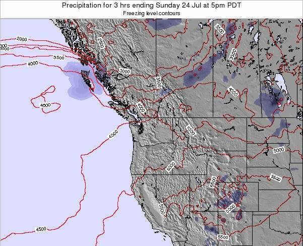Washington Precipitation for 3 hrs ending Saturday 25 May at 5am PDT