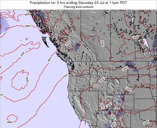 Washington Precipitation for 3 hrs ending Monday 16 Dec at 4am PST