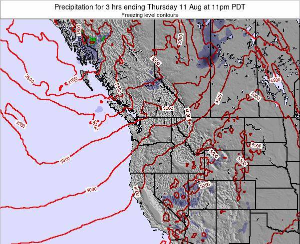 Washington Precipitation for 3 hrs ending Thursday 12 May at 11pm PDT