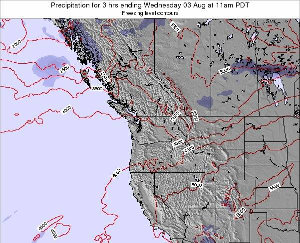 Washington Precipitation for 3 hrs ending Tuesday 29 Apr at 11am PDT