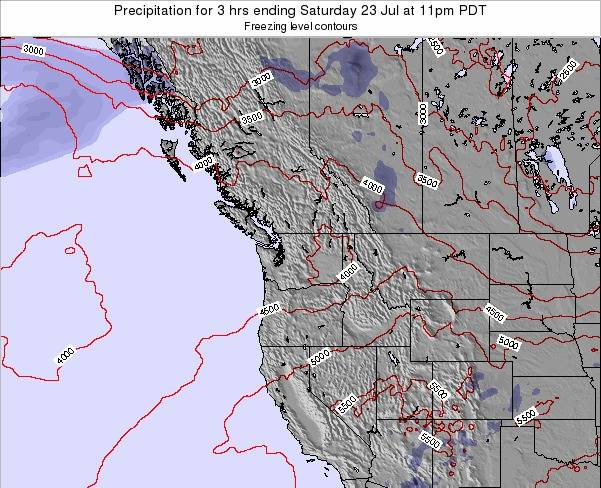 Washington Precipitation for 3 hrs ending Sunday 29 Mar at 11pm PDT