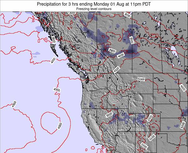 Washington Precipitation for 3 hrs ending Tuesday 13 Oct at 5pm PDT