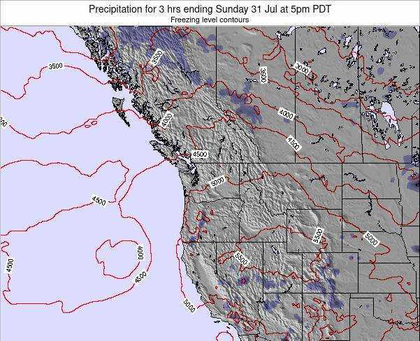 Washington Precipitation for 3 hrs ending Monday 29 Aug at 11am PDT
