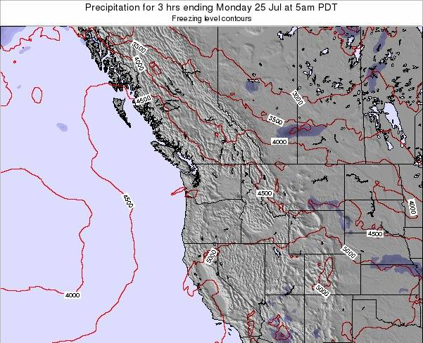 Washington Precipitation for 3 hrs ending Friday 01 Aug at 5pm PDT