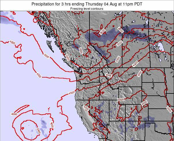 Washington Precipitation for 3 hrs ending Tuesday 29 Jul at 5pm PDT