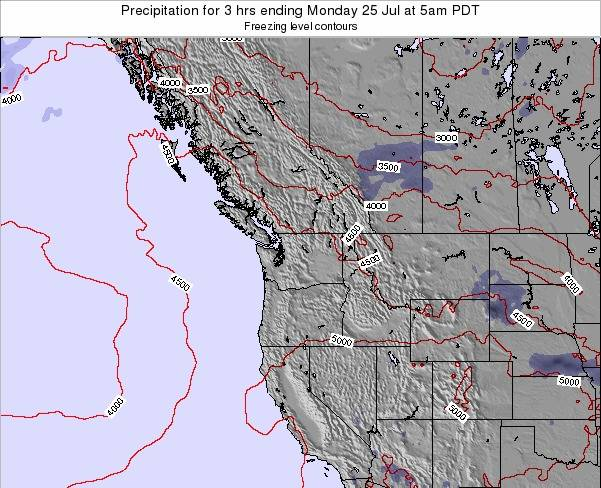 Washington Precipitation for 3 hrs ending Friday 25 Apr at 11am PDT