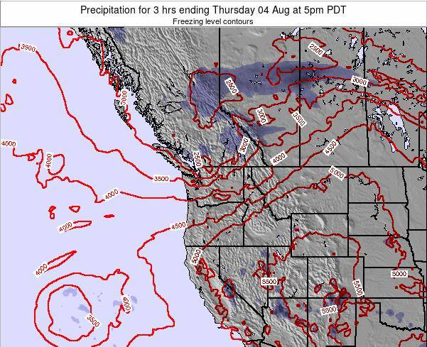 Washington Precipitation for 3 hrs ending Thursday 13 Mar at 5am PDT