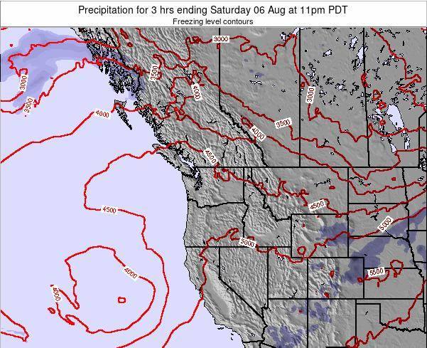 Washington Precipitation for 3 hrs ending Friday 01 Aug at 11am PDT