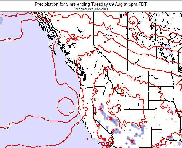 Washington Precipitation for 3 hrs ending Wednesday 28 Feb at 10am PST map