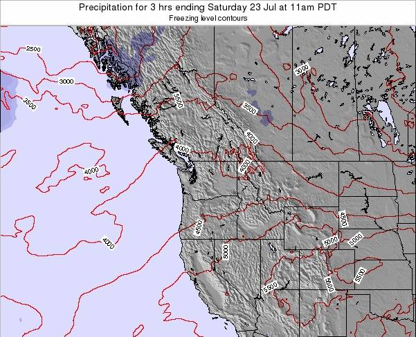 Washington Precipitation for 3 hrs ending Friday 27 May at 11am PDT