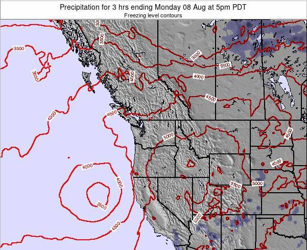Washington Precipitation for 3 hrs ending Saturday 15 Mar at 11pm PDT
