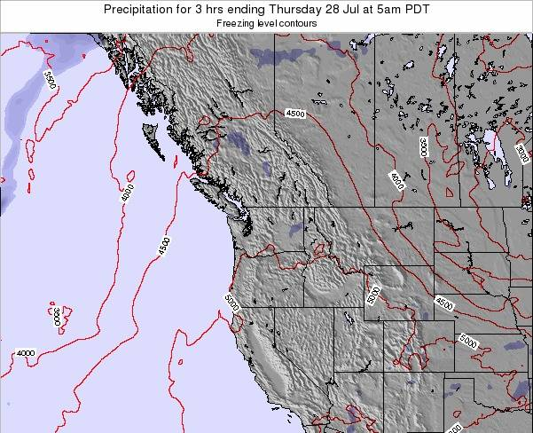 Washington Precipitation for 3 hrs ending Tuesday 28 May at 5am PDT