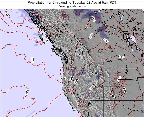 Washington Precipitation for 3 hrs ending Friday 19 Sep at 11pm PDT