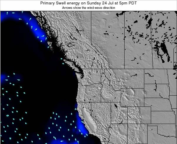 Washington Primary Swell energy on Saturday 25 May at 5am PDT