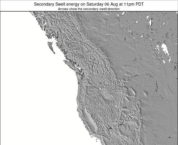 Washington Secondary Swell energy on Thursday 23 May at 5pm PDT