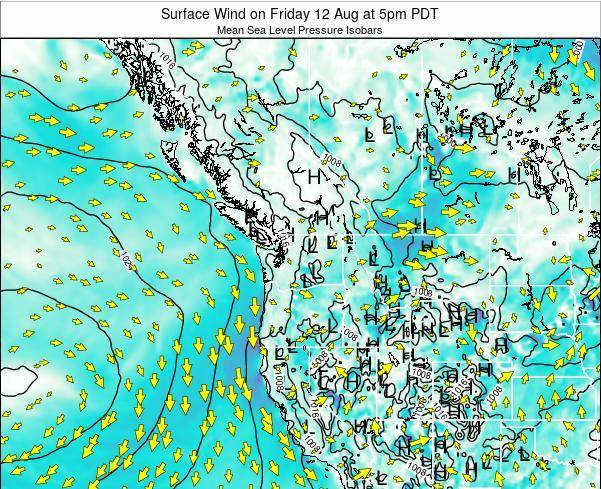 Washington Surface Wind on Wednesday 29 May at 11pm PDT