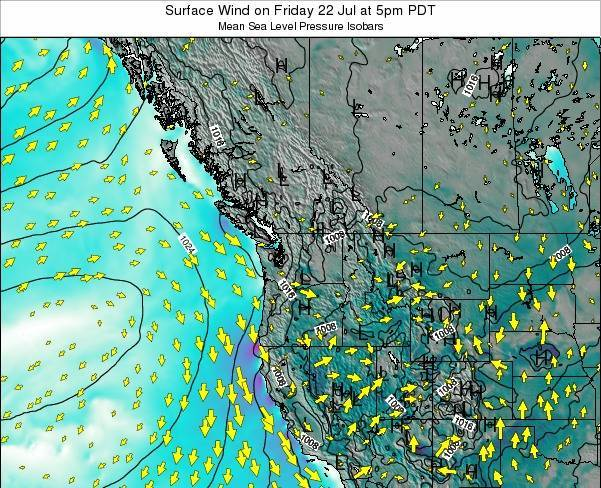 Washington Surface Wind on Sunday 26 May at 5am PDT