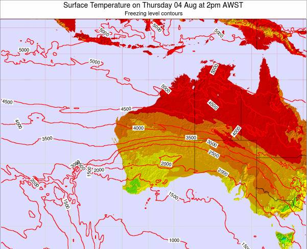 Western-Australia Surface Temperature on Sunday 26 May at 2am WST